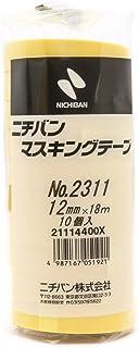 ニチバン 遮蔽胶带  100巻入 12mm×18m 黄色