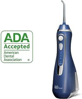 waterpik 洁碧 无线高级水牙线 充电式便携口腔冲洗器 ,适合旅行和家庭使用,Wp-563 经典蓝色