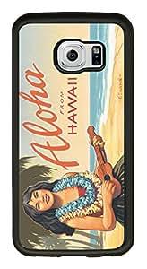 印花混合硬质 PC 软 TPU 硅胶智能手机保护套适用于 GALAXY S6 Waikiki, Hawaii by Kerne Erickson-WHITE-599