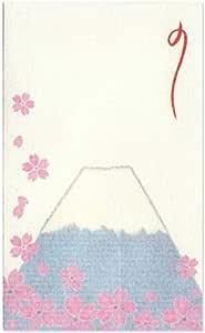 和纸 小口袋 小绘画 ぽち袋(三つ折り) 25枚 桜と富士山