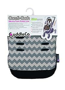 英国CuddleCo婴儿车记忆棉坐垫-雪佛龙灰CUD841660