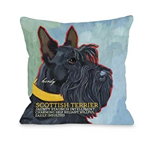 Bentin Pet Decor Scottish Terrier 1 Pillow, 20 by 20-Inch