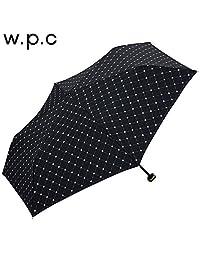 w.p.c 遮光遮热轻量淑女便携防晒三折遮阳伞 遮光网格花朵款801-542黑色