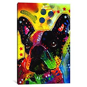 iCanvasART DRO16-1PC6 French Bulldog No.2 Canvas Print by Dean Russo, 1.5 by 26 by 18-Inch