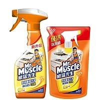 Mr.Muscle威猛先生厨房重油污净双包装(柠檬) 500克+420克(特卖)