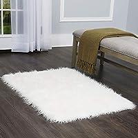 Home Dynamix Christian Siriano Colorado Adelia Scatter Area 地毯 76.2 厘米 x 119.38 厘米,纯白色
