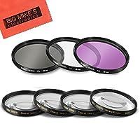 49mm 7 件过滤器套装,适用于 Canon EF 50mm f/1.8 STM 镜头 - 包括 3 件过滤器套件 (UV-CPL-FLD) 和 4 件近距离过滤器套装 (+1+2+4+10)