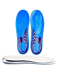 1 双硅胶矫正鞋垫男女适用 - 波状鞋垫是锻炼、散步、跑步、慢跑和合身工作靴的理想选择 Women-Small Size