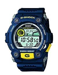 Casio Casio 男式 G-7900-2DR G-Shock 蓝色树脂数字表盘手表