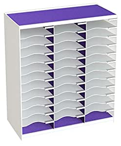 Paperflow Master 文学收纳袋 36 Compartment White/Purple