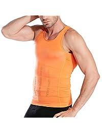 HOTER 男式塑身修身背心,男式弹性雕塑马甲,热压缩基层,修身压缩肌肉背心塑身衣