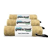 超细纤维 greens 毛巾3条装21.59?cmx27.94?cm 带挂扣 .