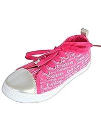 bebe 女孩低帮帆布时尚运动鞋(幼儿/小童/大童)