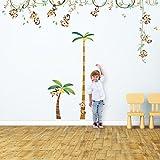 Decowall DA-1507P1607 藤上猴子与高图儿童墙贴墙贴即剥即贴可移除墙贴适用于儿童托儿所卧室客厅