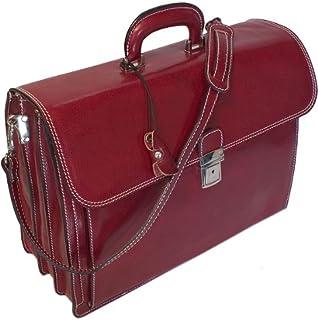 Floto Luggage Shoulder Strap Firenze Brief, Red, Large