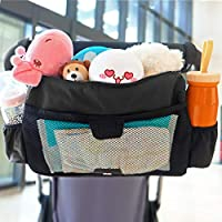 INFANZIA婴儿车收纳袋,带杯架的尿布收纳袋,*版3-1设计,适合婴儿车如Uppababy、Baby Jogger、Britax、BOB、宠物推车