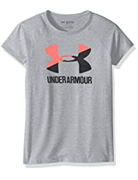 Under Armour 安德玛 女童 Solid 大Logo 短袖运动衫