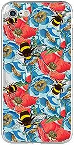 iPhone 8/iPhone 7 手机壳(4.7 英寸),Blingy's Flower 系列透明软橡胶 TPU 透明手机壳 iPhone 8/iPhone 7 Bumblebee Flowers