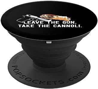 Leave The Gun Take The Cannoli 趣味意大利食品酷炫礼物 PopSockets 手机和平板电脑握架260027  黑色