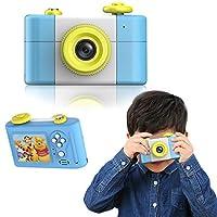 指玩奇特 第三代儿童卡通数码相机小单反运动摄像照相机 (蓝色送8G内存卡)