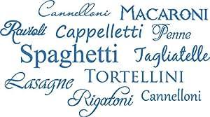 墙壁贴纸字 Pasta Pasta 装饰厨房墙壁贴纸装饰