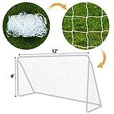 BenefitUSA Nets 便携式足球门目标 30.48 厘米 x 15.24 厘米足球网 尼隆运动训练