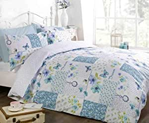 Rapport 家庭梦想拼接床上用品,蓝绿色 多种颜色 Single 12393205