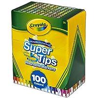 CRAYOLA 绘儿乐 58-5100 Super Tips 可水洗马克笔,多色,17.78 x 14.73 x 8.6300000000000008cm