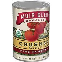 Muir Glen 罐装番茄,番茄碎,烤制,不加糖,14.5 盎司(约 411.1 克)罐装 (12 罐装)