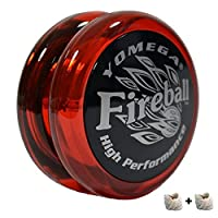 Yomega Fireball – 高性能Transaxle 溜球,适用于中级、高级和专业级别弦技巧 Red_black