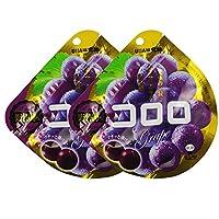 UHA 味觉糖 酷咯咯葡萄口味果汁软糖(紫葡萄)40g*2(日本进口)(促销+8g随机发货)(新老包装 随机发货)