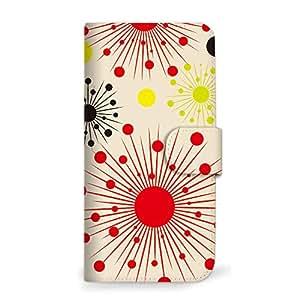 MITAS 智能手机保护壳翻盖型太阳图案 米黄色 3_Galaxy NOTE 5 (SM-N9200) Samsung