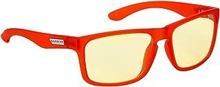 Gunnar Optiks Intercept Full Rim 高级视频游戏眼镜,带琥珀色镜片膜 标准包装 火灾