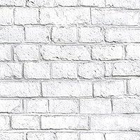 RoomMates 白色砖即剥即贴墙纸