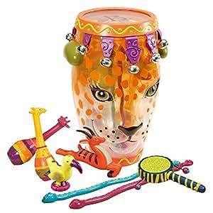 B.Toys 比乐 丛林冒险豹子鼓 音乐玩具 拍打敲击玩具 带收纳 婴幼儿童益智玩具 礼物 2岁+ BX1289Z