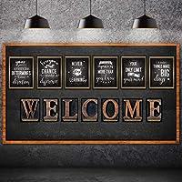 13 件工业别致公告板海报,层压励志引言积极信念激励海报带欢迎标志适用于学校课堂墙壁公告板装饰