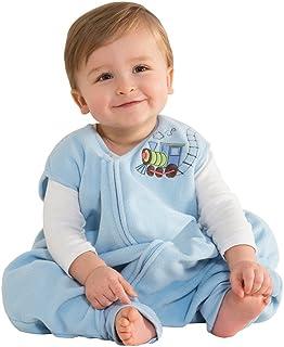 HALO 赫拉  早期学步 幼儿摇粒绒毯子 可穿 蓝色小火车
