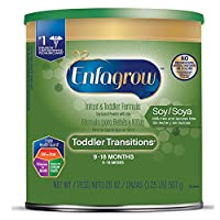 Enfagrow Soy Toddler Transitions, Soy-Based Powder, 20 Ounce Can