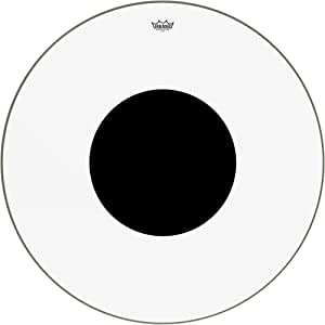 """REMO Bass, CONTROLLED SOUND®, Clear, 36"""" Diameter, BLACK DOT(TM) On Top"""