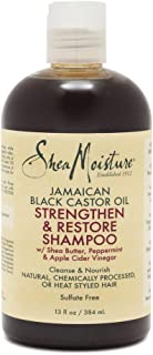 SheaMoisture 洗发露 牙买加黑蓖麻油 可增强和修复受损发质,适合受损发质 13盎司/384毫升