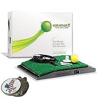 OPTISHOT 2 高尔夫模拟器(Mac 和 PC)套装 - 包括 1 个美国鹰高尔夫球标记和其他定制选项