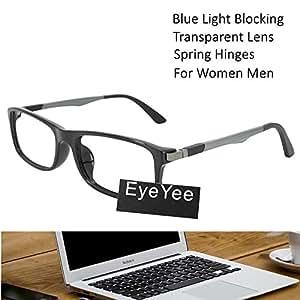 电脑阅读眼镜蓝光阻挡 - UV 防眩光矩形 Strength 1.25 黑色