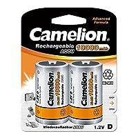 Camelion 17010220 Akku (NiMH, Mono, R20 (D), 10000 mAh, 2er)