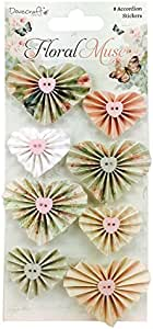 Dovecraft Floral Muse Accordion Stickers 8/Pkg-Hearts