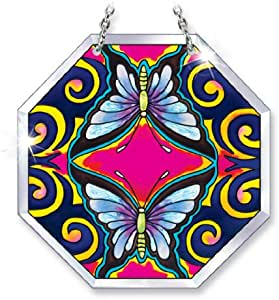Amia 5722 蝴蝶设计手绘玻璃吊饰,11.43 cm x 11.43 cm
