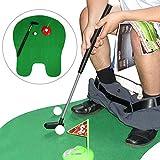 YASSUN 马桶高尔夫,迷你马桶高尔夫套装,浴室高尔夫游戏,男士/儿童室内高尔夫练习礼物