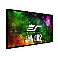 Elitescreens 美国亿立 SB100WH2 3D 4K / 8K 超高清固定框架家庭影院投影仪屏幕套件-电影白,100英寸(约2.54米)