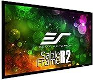 Elitescreens 美国亿立 SB120WH2 3D 4K / 8K UHD 固定框架家庭影院投影仪屏幕套件-电影白,120英寸(约3.05米)