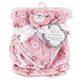 Cribmates 柔软毛绒婴儿毯和毛毯,粉色