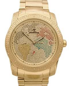 JBW 男式 JB-8174-F 金色世界地图钻石手表